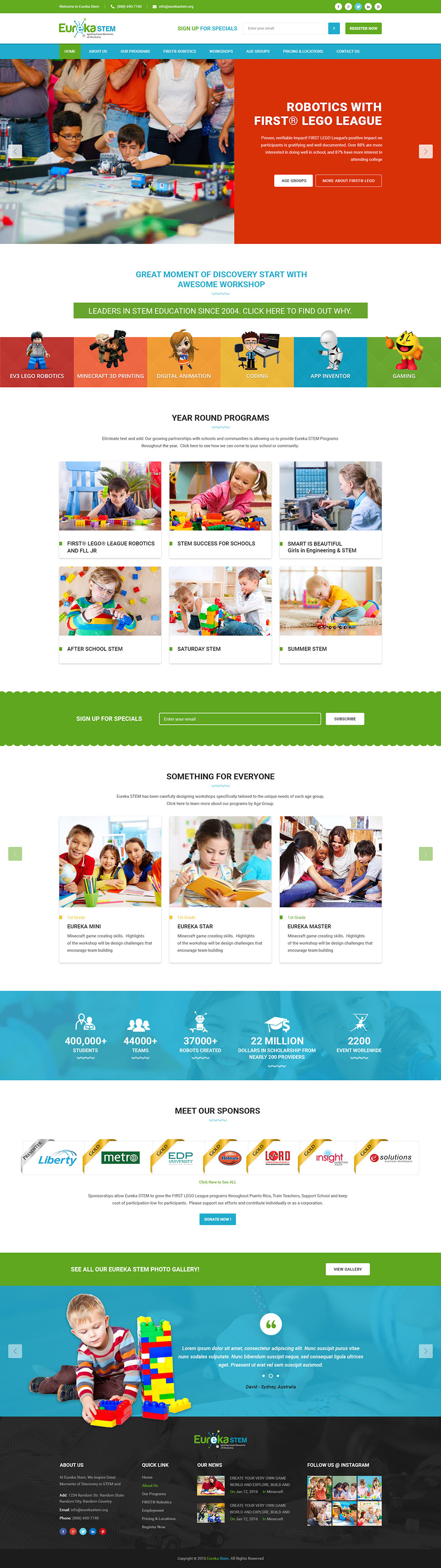 eureka-stem-website-design